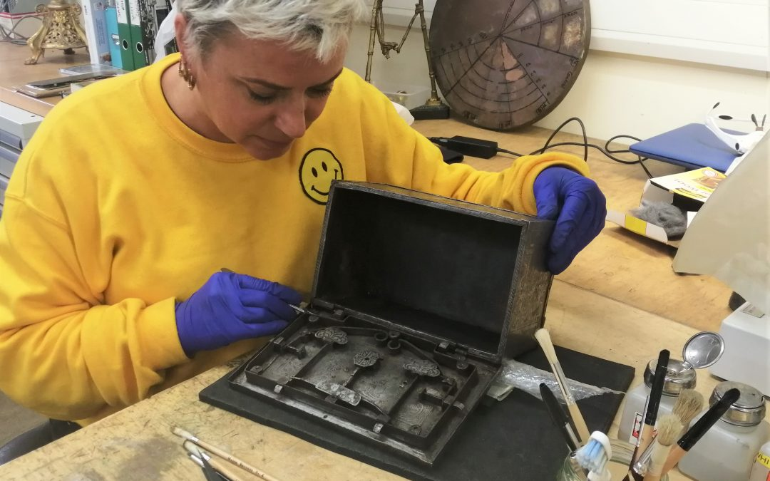 Conservation of a 17th Century iron casket