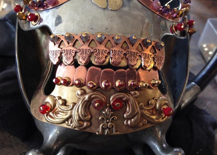 temple skull artwork